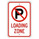 "R-103RA5 12"" x 18"" EGR Grade No Parking Symbol Loading Zone Sign"