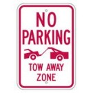 "R-98RA5 12"" x 18"" EGR Grade No Parking Tow Away Zone Sign"