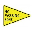"W14-3 36"" x 48"" x 48"" High Intensity No Passing Zone Sign"