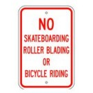"R-111RA5 12"" x 18"" EGR Grade No Skateboarding Sign"