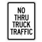 "R14-3 18"" x 24"" EGR Grade No Thru Truck Traffic Sign"
