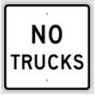 "R5-2A 24"" x 24"" High Intensity No Trucks Sign"
