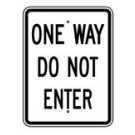 "R-63 18"" x 24"" EGR Grade One Way Do Not Enter Sign"