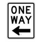 "R6-2L 18"" x 24"" EGR Grade One Way Arrow Left Sign"