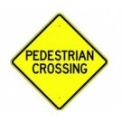 "W-34 24"" x 24"" High Intensity Pedestrian Crossing Sign"