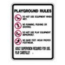 "S2-10 18"" x 24"" EGR Grade Playground Rules Sign"