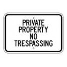 "G-47RA5 18"" x 12"" EGR Grade Private Property No Trespassing Sign"