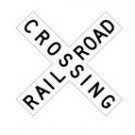 "R15-1 48"" x 9"" EGR Grade Railroad Crossing Sign"