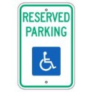 "R7-8NRA5 12"" x 18"" Reserved Parking Handicapped Sign"