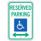 "R7-8RA5 12"" x 18"" Handicapped Reserved Parking with Arrows"