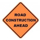 "W20-1a 36"" x 36"" High Intensity Prismatic Road Construction Ahead Sign"