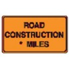 "G20-1 60"" x 36"" High Intensity Prismatic Road Construction Miles Sign"