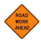 "W-65 36"" x 36"" Hi Intensity Prismatic Road Work Ahead Sign"