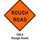 "W8-8 36"" x 36"" High Intensity Prismatic Rough Road Sign"