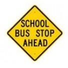 "S3-1 30"" x 30"" High Intensity School Bus Stop Ahead Sign"