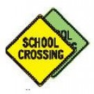 "W-29 24"" x 24"" High Intensity School Crossing Sign"