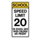 "S4-7 24"" x 48"" High Intensity School Speed Limit 20 Sign"