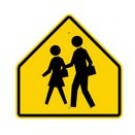 "S1-1 30"" x 30"" Diamond Grade School Zone Crossing Symbol Sign"