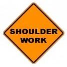"W21-5 36"" x 36"" High Intensity Prismatic Shoulder Work Sign"