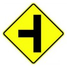 "W2-2 30"" x 30"" High Intensity Side Road Symbol Sign"