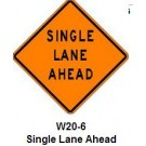 "W20-6 36"" x 36"" High Intensity Prismatic Single Lane Ahead Sign"
