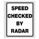 "R2-5E 24"" x 30"" EGR Grade Speed Checked By Radar Sign"