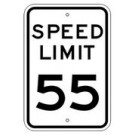 "R2-1 12"" x 18"" High Intensity Speed Limit Sign"