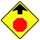 "W3-1S 30"" x 30"" High Intensity Stop Ahead Symbol Sign"