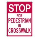 "G-10 18"" x 24"" EGR Grade Stop For Pedestrian Sign"