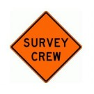 "W21-6 36"" x 36"" High Intensity Prismatic Survey Crew Sign"