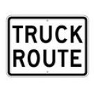 "R14-2 24"" x 18"" High Intensity Truck Route Sign"