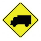 "W11-10S 30"" x 30"" High Intensity Truck Symbol Sign"