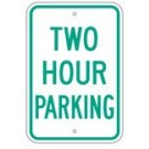 "R-68BRA5 12"" x 18"" EGR Grade Two Hour Parking Sign"