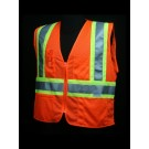 V1400 Orange Class 2 Mesh Safety Vest