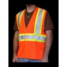 V1600 Class 2 Orange Mesh Safety Vest