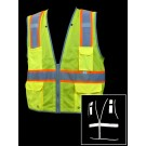 V1700 Lime Class 2 Mesh Safety Vest