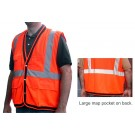 V210 Orange Surveyors Mesh Vest
