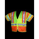 V275 Class 3 Orange/Lime Mesh Safety Vest