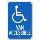 "G-64RA5 12"" x 18"" Van Accessible Handicapped Sign"