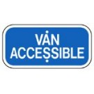 "G-68BRA3 12"" x 6"" Van Accessible Blue Sign"