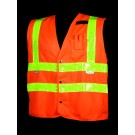 VH402-2 Class 2 Orange Solid Safety Vest