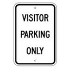 "G-27RA5 12"" x 18"" EGR Grade Visitor Parking Only Sign"