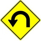 W1-11L Hair Pin Curve Left Sign