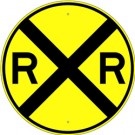 W10-1  High Intensity Round RxR Railroad Crossing Sign