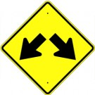 W12-1  High Intensity Double Down Arrow Sign