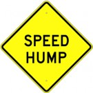 W17-1A2 High Intensity Speed Hump Sign