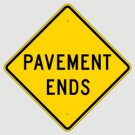 W8-3A  High Intensity Pavement Ends Sign