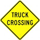 W8-6 High Intensity Truck Crossing Sign