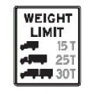 "R12-5 24"" x 36"" High Intensity Weight Limit (Multi) Sign"