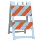 White Plasticade Type II Barricade